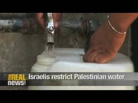 Israelis restrict Palestinians' water supply