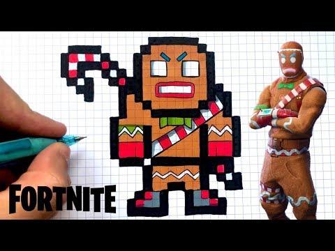 How To Draw Merry Marauder Skin Fortnite Pixel Art Youtube