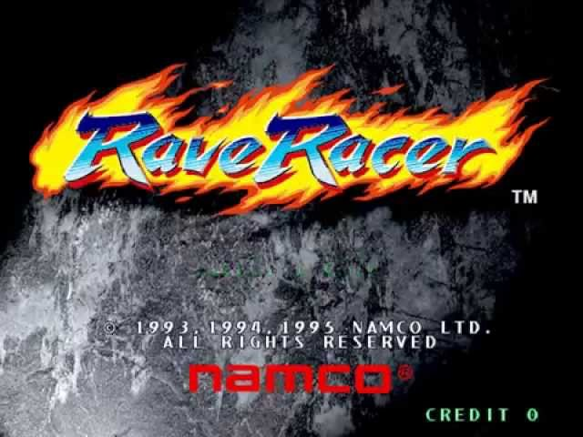 Rave Racer - Attract Mode 60 fps