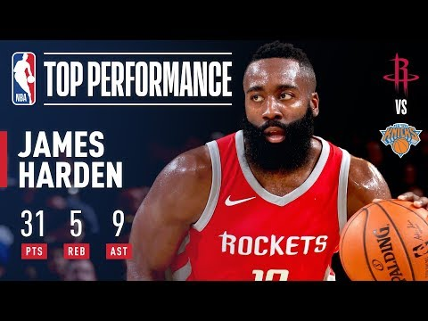 James Harden's 31 Points, 9 Assists Pushes Rockets Past Knicks | November 1, 2017
