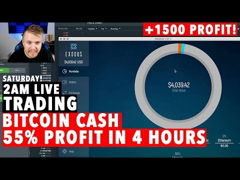 Trading Crypto Currency LIVE! BITCOIN CASH 100% MOVE!!!!