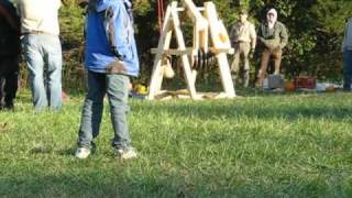 Troop 221 At The 2010 Big Lick District Fall Camporee -- Pumpkin Chunkin Trebuchets