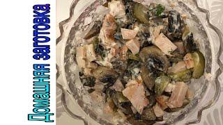 Салат с шампиньонами огурцами и куриной грудкой (очень вкусно) эпизод №228