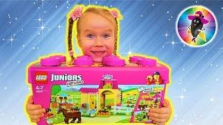 Пони на Ферме Распаковка и обзор Набора Лего Джуниорс Pony Farm Lego Juniors 10674