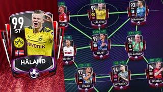Full Bundesliga Rivals Premium Master Squad Builder in FIFA Mobile 20! 99 OVR Håland Gameplay!