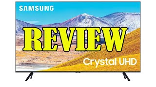 Review SAMSUNG 65 inch Class Crystal UHD TU 8000 Series 4K UHD HDR Smart TV 2020