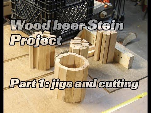 Wood beer Mug/Stein pallet project, cutting the staves and base