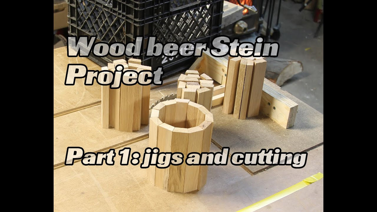 Wood beer Mug/Stein pallet project, cutting the staves and ...