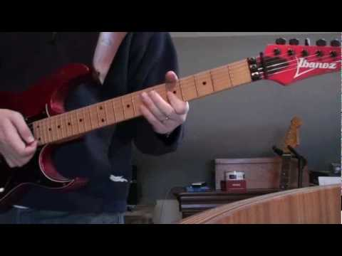 Blues improvisation in A with 1991 Ibanez RG550 and Seymour Duncan pickups