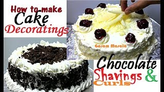 How to make Chocolate Curls and Shavings Cake Decorating