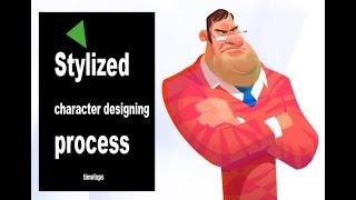 stylized character design process