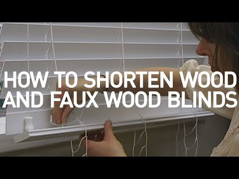 how to shorten wood and faux wood blinds diy youtube. Black Bedroom Furniture Sets. Home Design Ideas