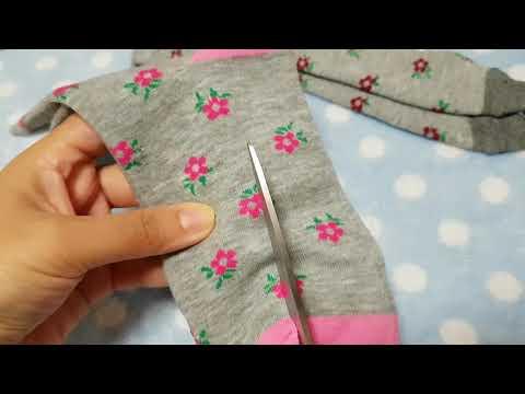 Шьем колготки из носков для кукол  часть 1