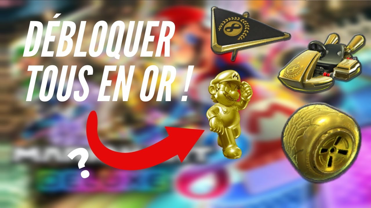 COMMENT AVOIR TOUS LES OBJETS EN OR SUR MARIO KART 8 DELUXE / HOW TO GET ALL THE GOLD ITEMS ON ~