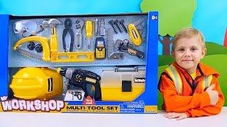 Мастер Даник и детский рабочий инструмент Children's toy tool and little Master Danik