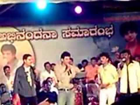 SHIVANNA in Mysore Singing a song from Anand tuvi tuvi.......