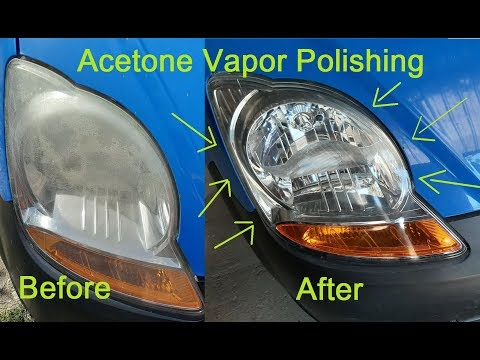 How To Restore Headlights With Acetone Vapor. Very Cheap, Spectacular Results