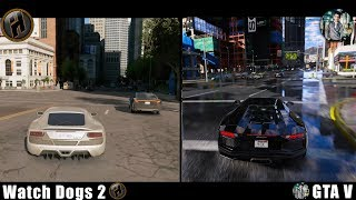 Watch Dogs: 2 VS GTA: 5 MVGA + NVR + VisualV Graphic Mods!  Side By Side  NEW! (Graphics Comparison)