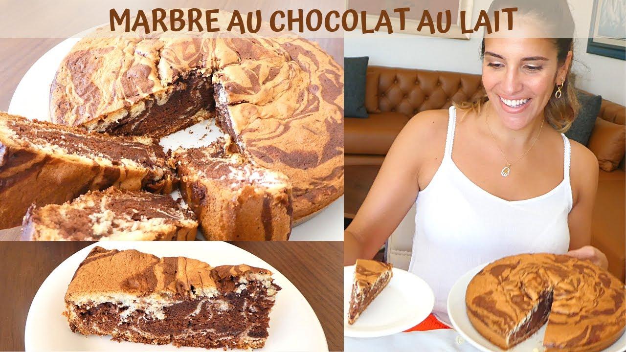 Cake Marbre Chocolat Au Lait Moelleux Facile Et Rapide A Realiser Youtube