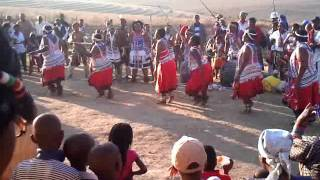 Thembu dancers at Sangoni Great place
