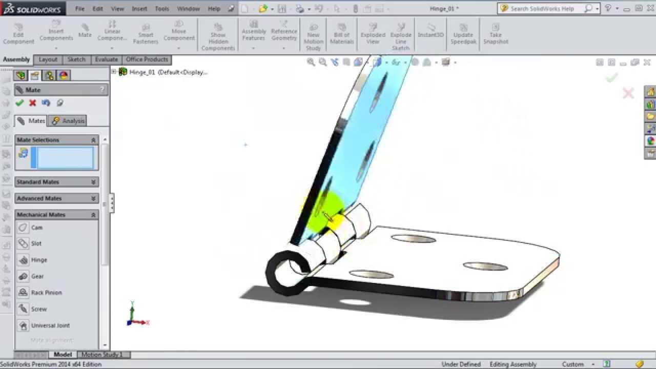 Solidworks tutorial: copy a component with mates | solidworks/creo.