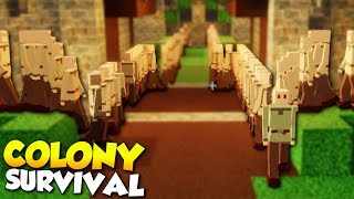 1000 COLONISTS! - Colony Survival Gameplay [Ep 10] - Kingdom Building