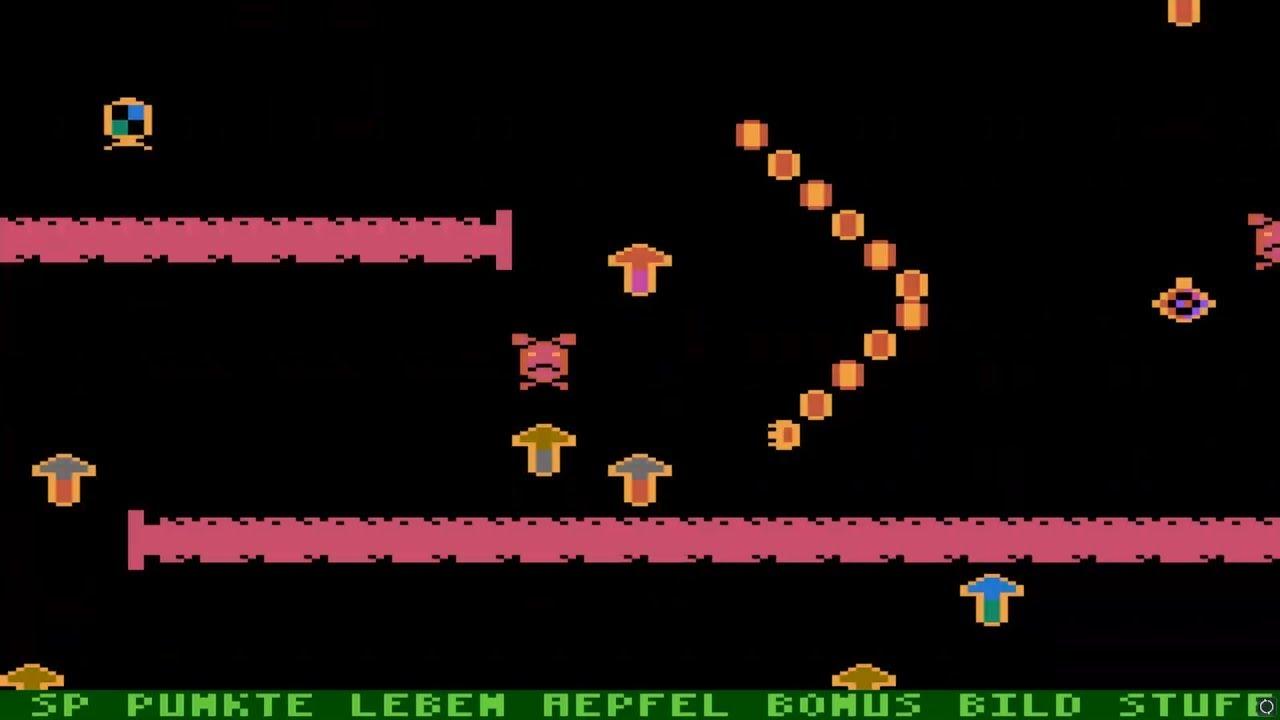 ATARI 8BIT SuperWurm SUPER WURM 1985 Jorn Wunderwaldt De SNAKE NIBBLER WITH  SCROLLING atr zip