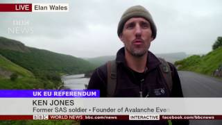 """SAS soldier says """"FUCK"""" on BBC NEWS - live ON AIR - with UK Prime Minister!"""
