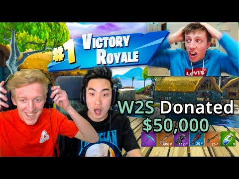 W2S DONATING $50,000 TO RICEGUM & TFUE