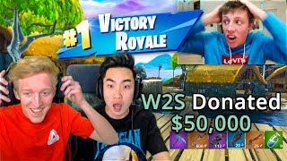 W2S DONATING $50,000 TO RICEGUM & TFUE ON FORTNITE