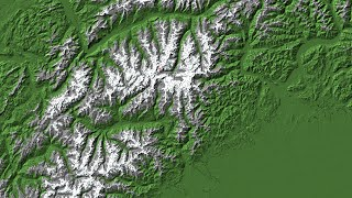 Minecraft Custom Map Download: Real Terrain Map of The Alps