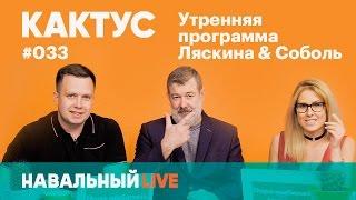 Кактус #033. Нападение на Навального, обыск в «Открытой России». Гость — Вячеслав Мальцев