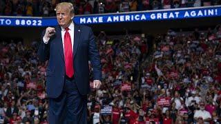 """Donald Trump da las gracias a sus """"guerreros"""" en un polémico inicio de campaña para su ree"""