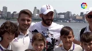 La sorpresa de Benzema a los alevines de la Liga Promises Internacional