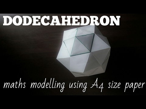 DODECAHEDRON | maths model using A4 size paper