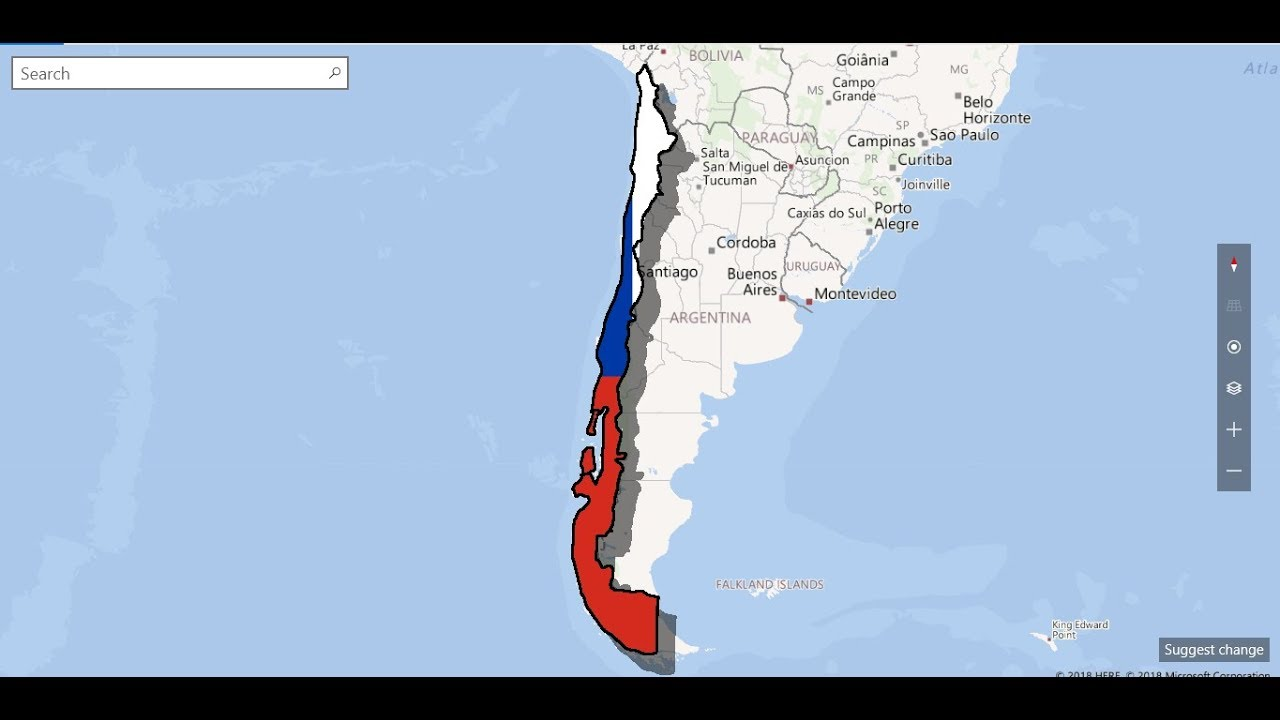 chile flag map YouTube