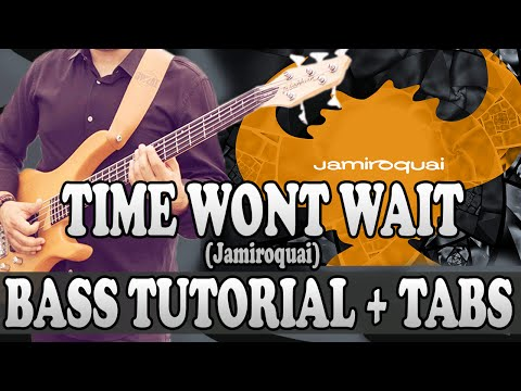 Time Wont Wait - Bass TUTORIAL (with tabs) - Jamiroquai