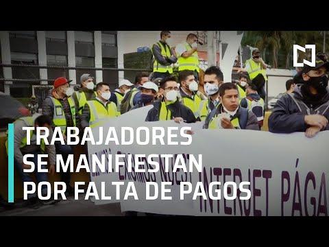 Trabajadores de Interjet bloquean Circuito Interior, CDMX - Despierta