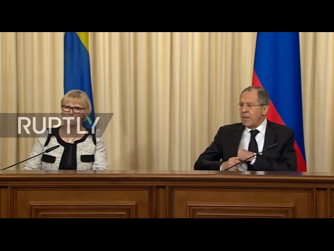Russia: 'Serious disagreements' with Sweden should not prevent relations - Lavrov