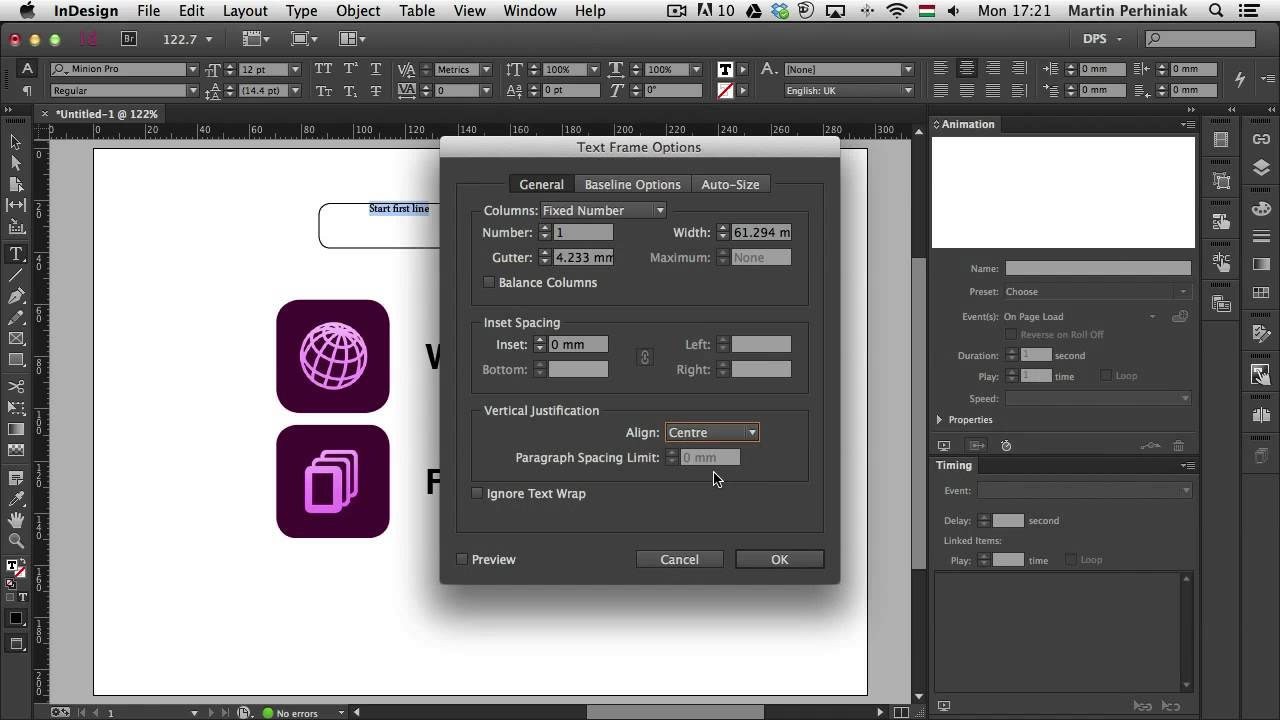 Animation in indesign Download + License Key