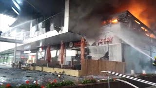 שריפה במרכז מסחרי בחדרה