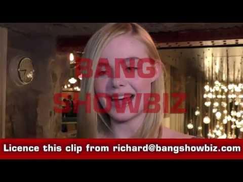 Elle Fanning BANG SHOWBIZ interview The Neon Demon UK Premiere