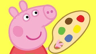 Peppa Pig - Learn to Draw Peppa Pig and Family - Learn Colours and Drawing for Kids thumbnail