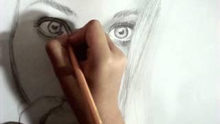 Me drawing Kristina Webb