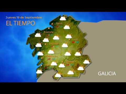 Previsión meteorológica en Ourense para el 19/09/2019