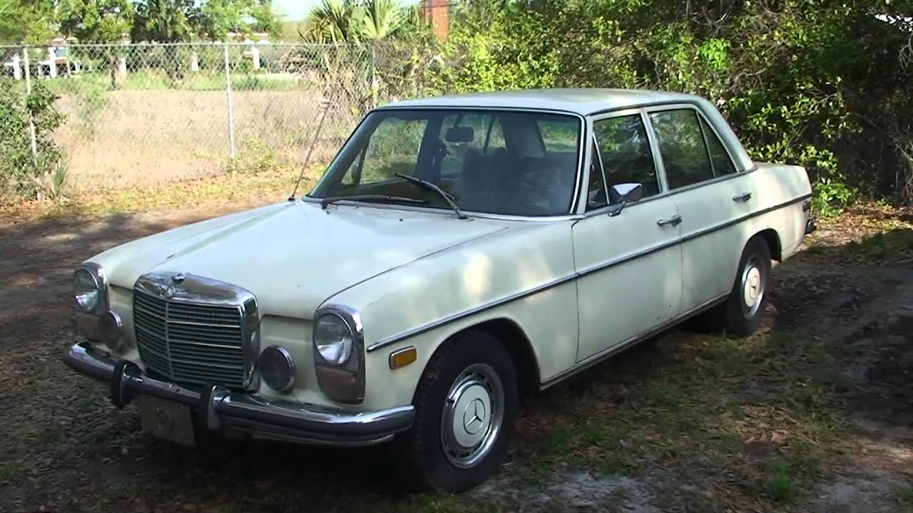 Extrêmement SARAH'S 1973 MERCEDES 220D 4 CILINDER DIESEL 4 SPEED MANUAL - YouTube AF28