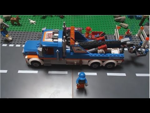 Review fr la d panneuse 60056 de lego city hd youtube - Comment faire une ville lego city ...