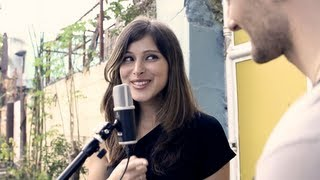 "Pretty Russian girl sings ""Kahit Maputi Na Ang Buhok Ko"" w/David DiMuzio"