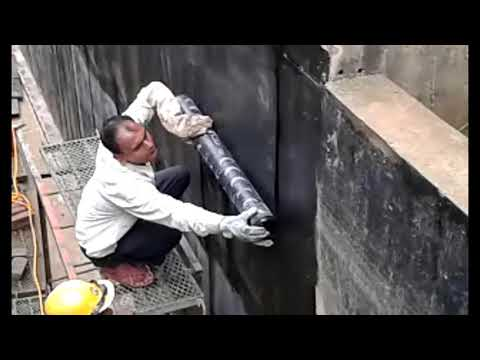 How to Waterproof on a basement wall/  Bituminous Waterproofing Membrane for Basement