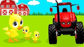 Tractors for Kids With Farm Animals! Tractors and Harvesters Cartoon for Toddlers